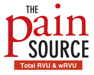 The Pain Source RVU numbers logo